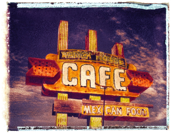 Cafe, photographed in New Mexico
