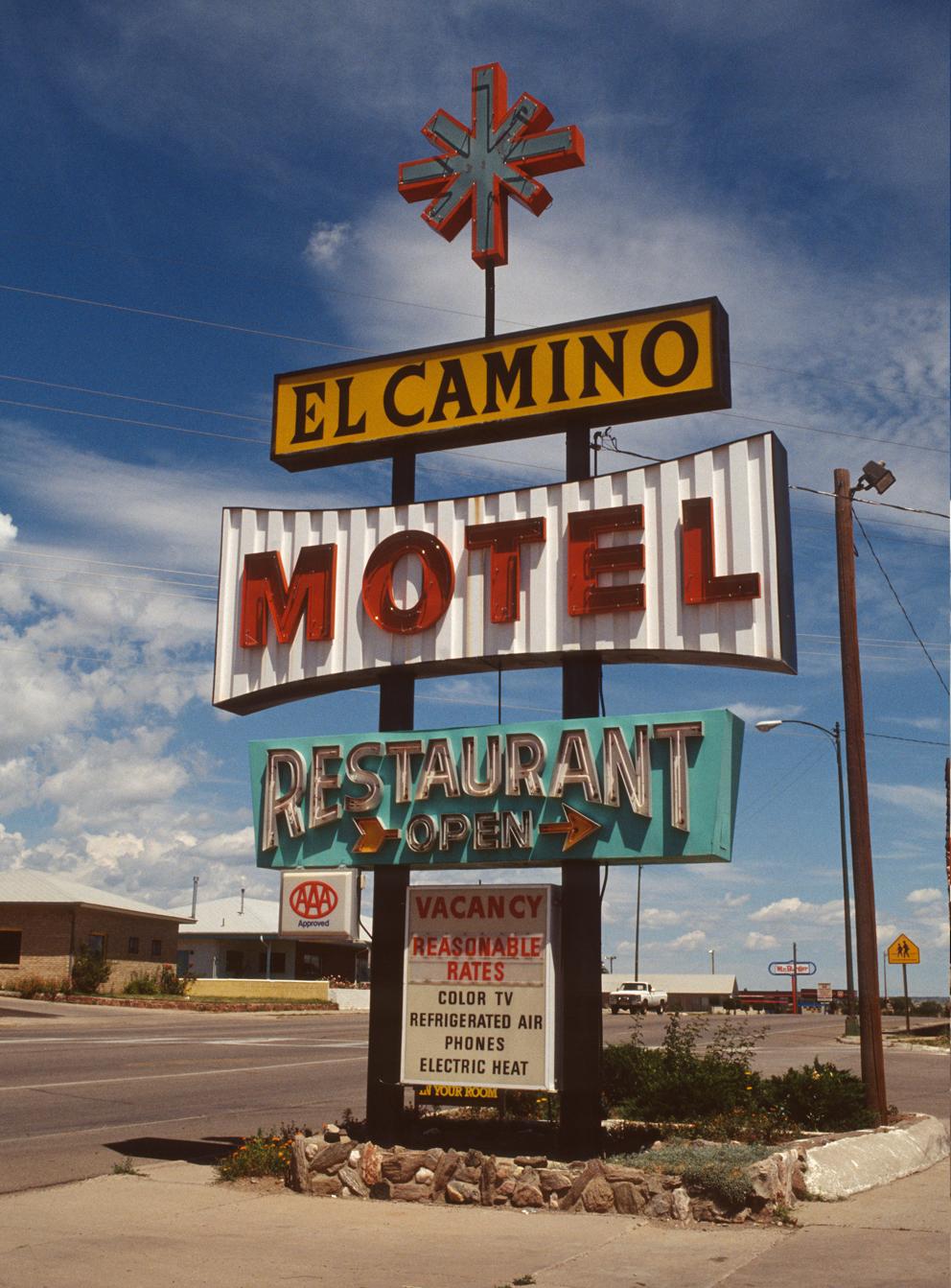 El Camino Motel, photographed in New Mexico