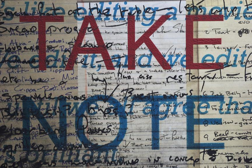Take Note ( diaries ), 2009