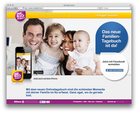 One Big Family - Mobile taugliche Webapp