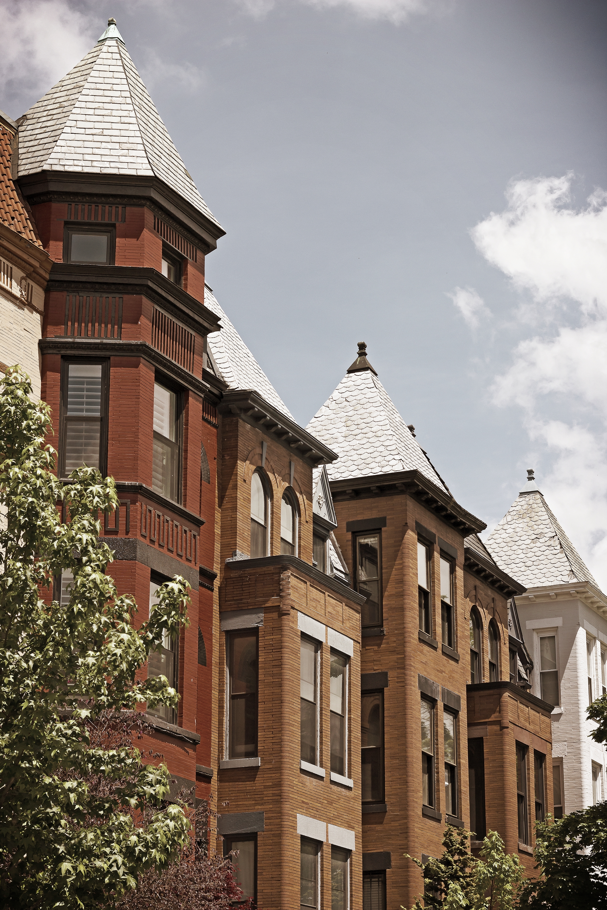 Row house facades