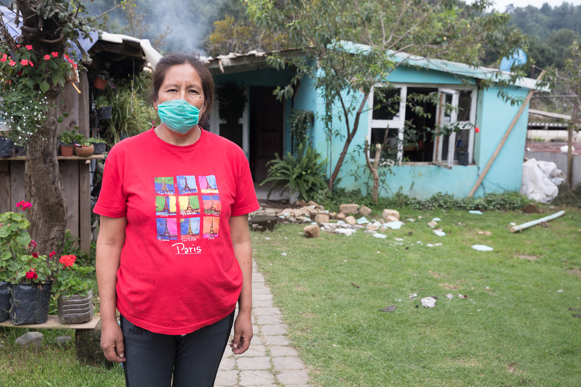 Virginia Hernández is a mother of six and is currently expecting another one. Her home was damaged and categorized uninhabitable by the authorities. PHOTO: Francisco Alcala Torreslanda