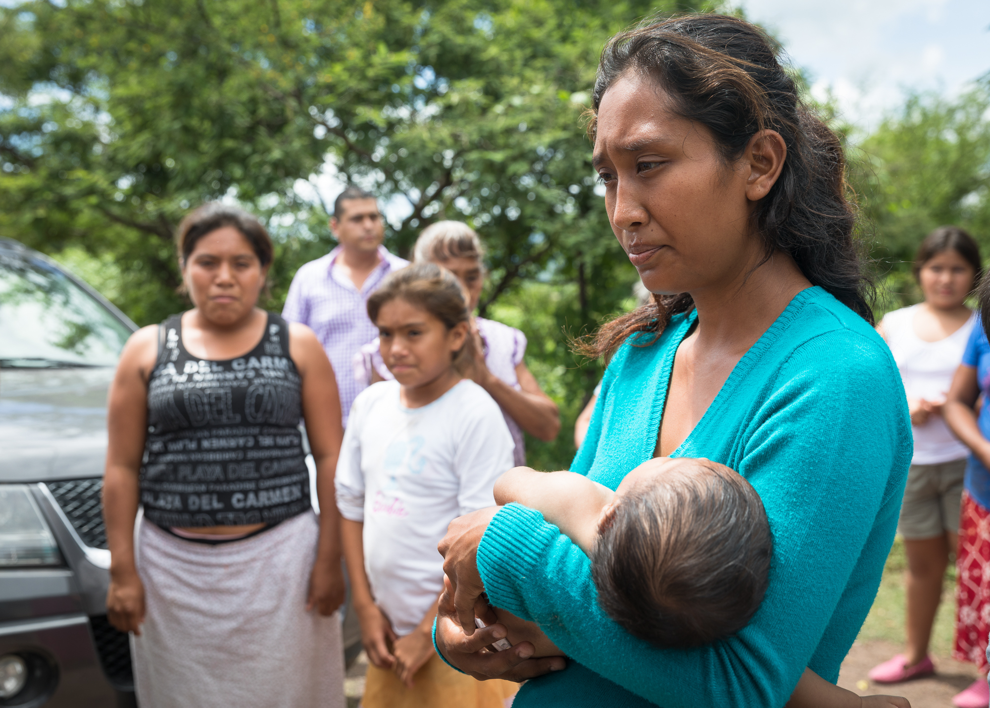 Jatziri Ramírez and husband Daniel Salgado's home was severely damaged; Meanwhile they need to take care of their three children whose names are Abigail, Ismael, and Aurora. PHOTO: Francisco Alcala Torreslanda