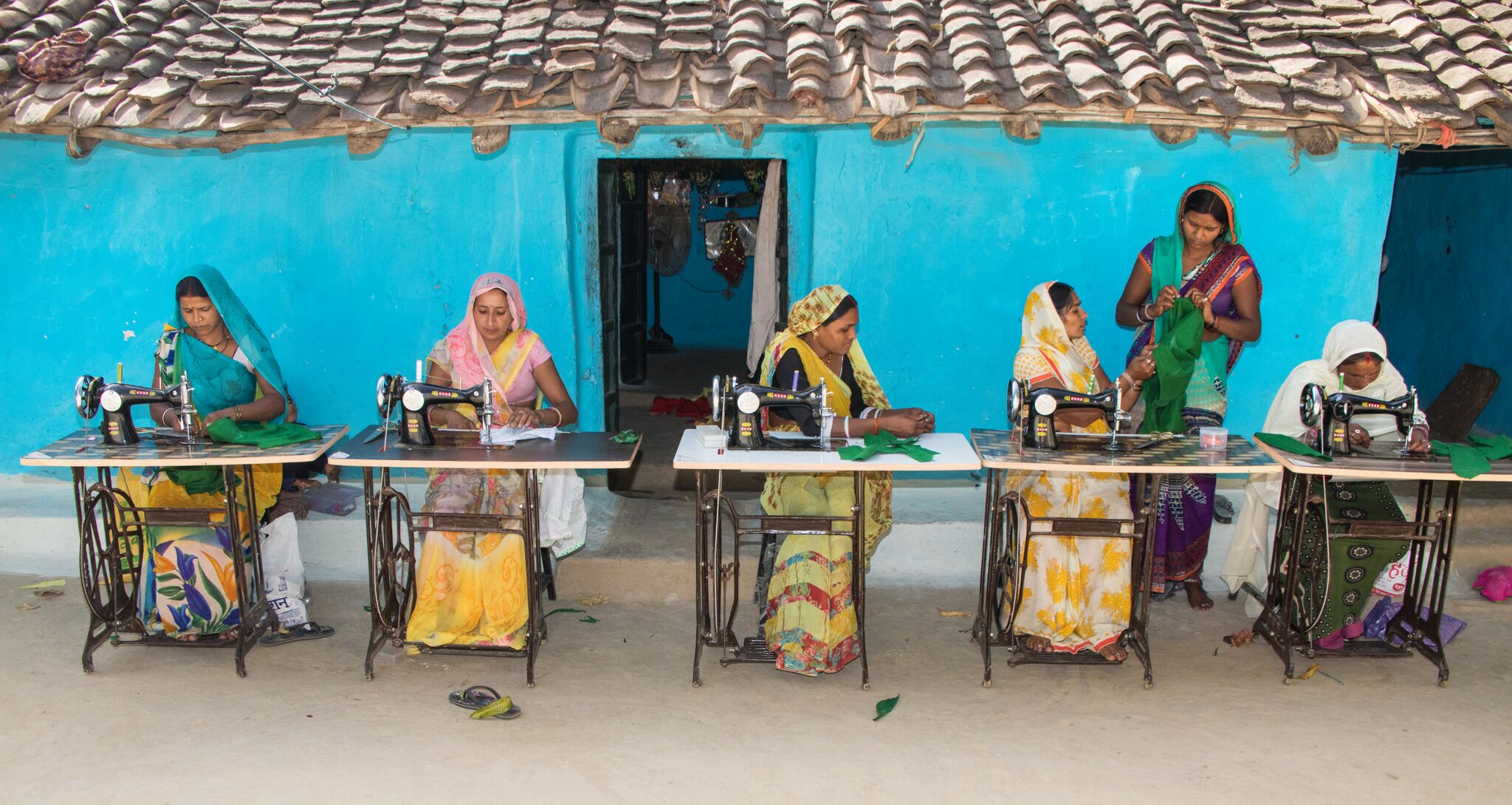 TFC offers sewing lessons to local women, providing an opportunity for them to open their own business.  PHOTO: Byron Flateland