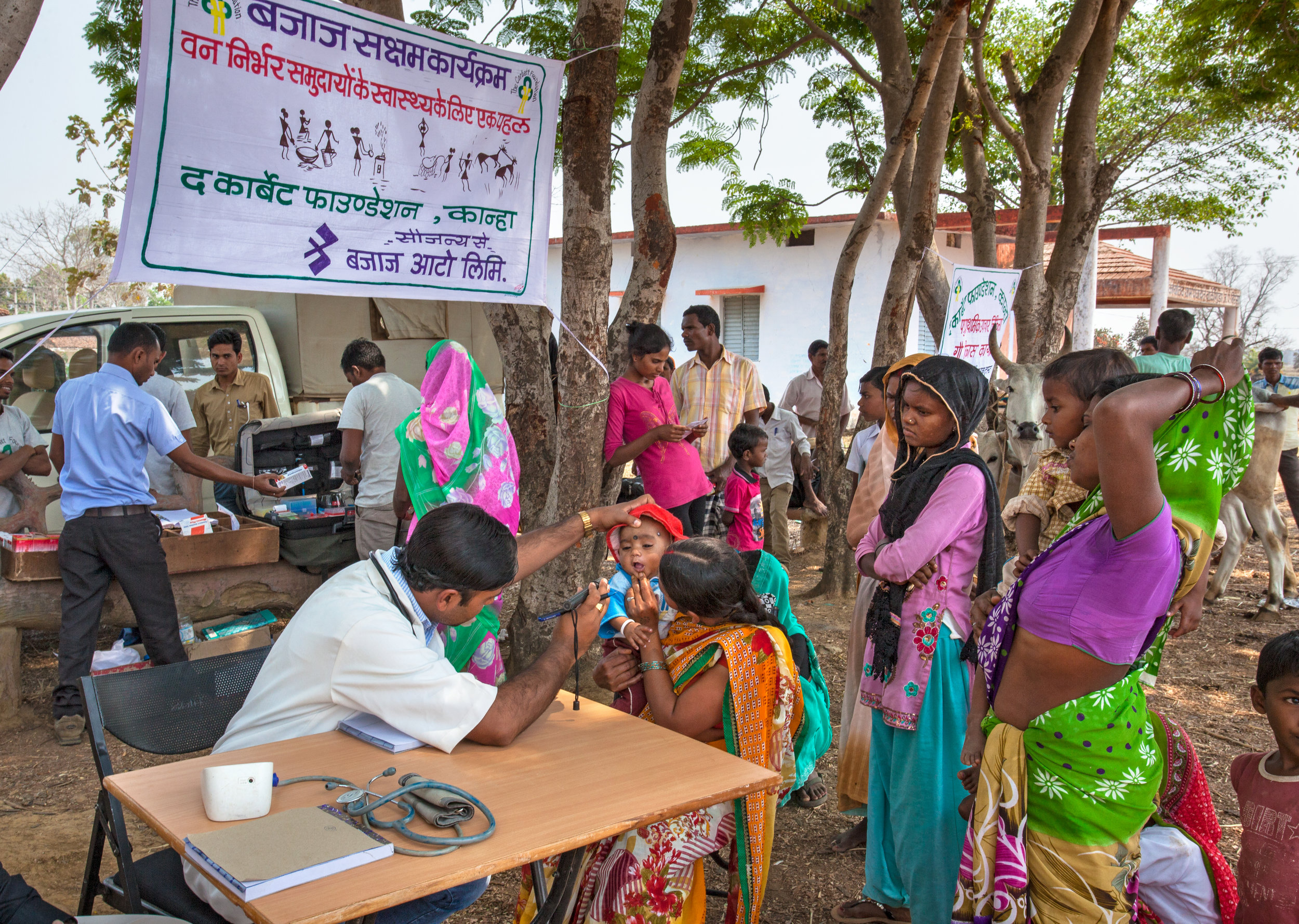 Mobile medical clinics provide healthcare for rural villages. Without TFC, locals would travel almost 50km to find a similar care.