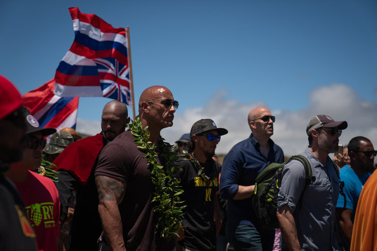The Rock makes an appearance, followed by swathes of supporters including Damian Marley, Jason Momoa, and Nicole Scherzinger.
