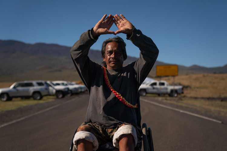 Kupuna Keoni Turdale grew up in Hilo and spent his entire life on the Big Island. He was one of the first arrested and vows he would do it again should it come to that.