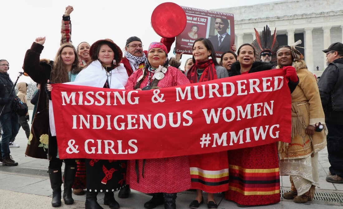 Rep. Deb Haaland and MMIWG advocates in Washington D.C.