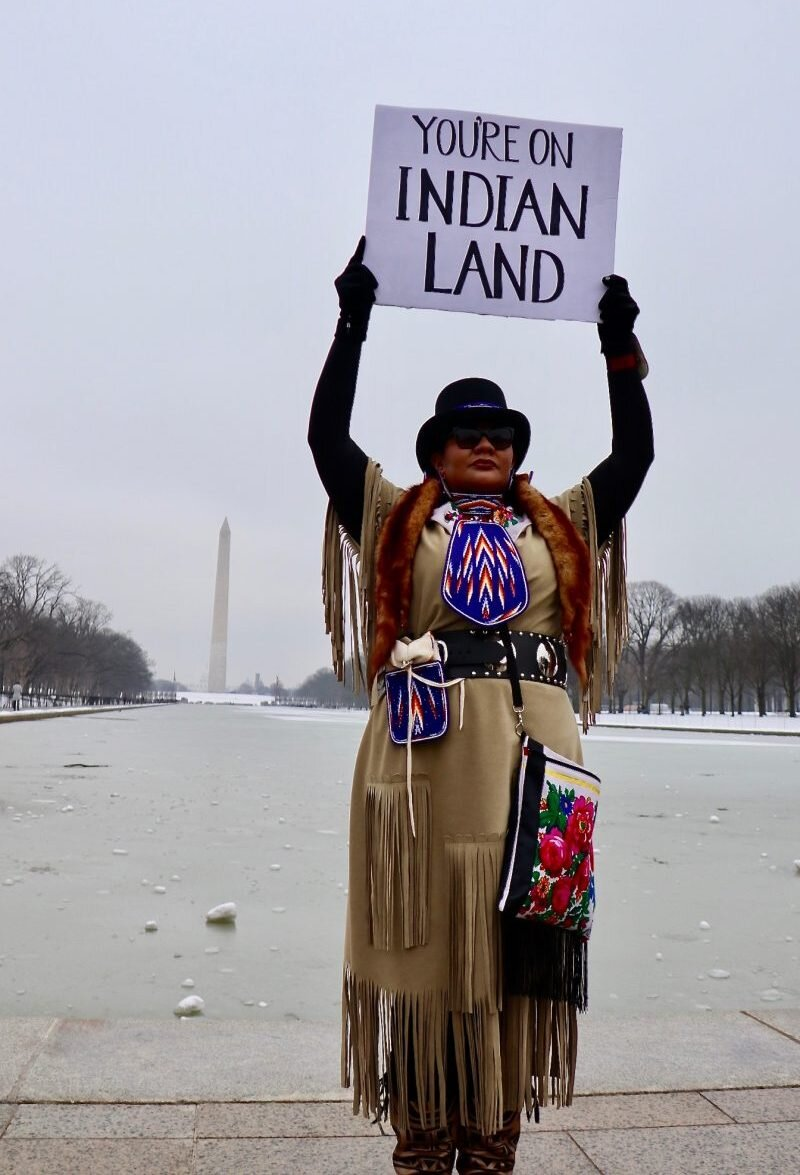 Truth teller, Indigenous Peoples March Washington D.C.