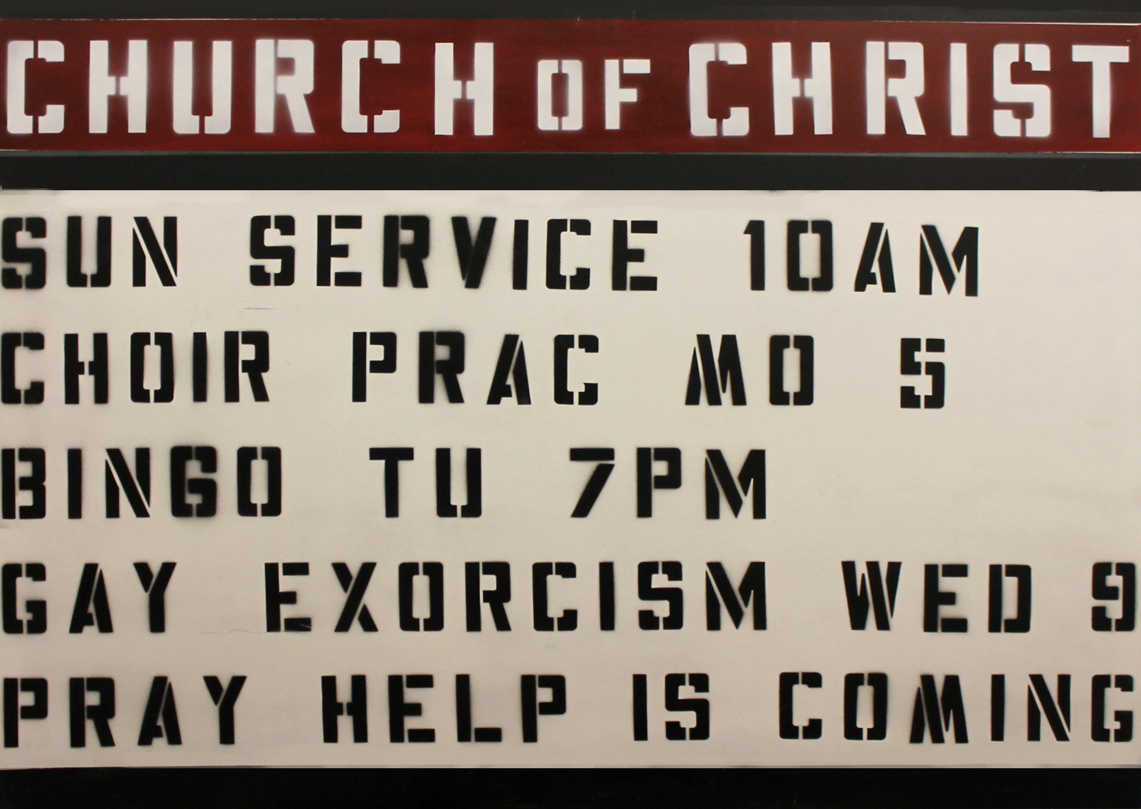 Church Sign 2