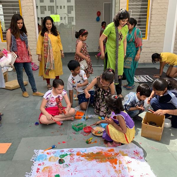 ART ATTACK - Art Attack seeks to engage children and teachers to synergize experiences ....Our School held a very interesting colorful palette of art and pottery workshop forchildren from areas likeTata Primanti, Tattvam Villas and sector 49 on 6 th April 2019.It was surprising to see the various pieces of art work, painting of high standards. The Exhibits were attractive and colorful for they had been prepared and designed well by the students with guidance from the art teacher.There were many sections to interest children and parents who came to participate with the children. Other items like Pottery were also admired too.