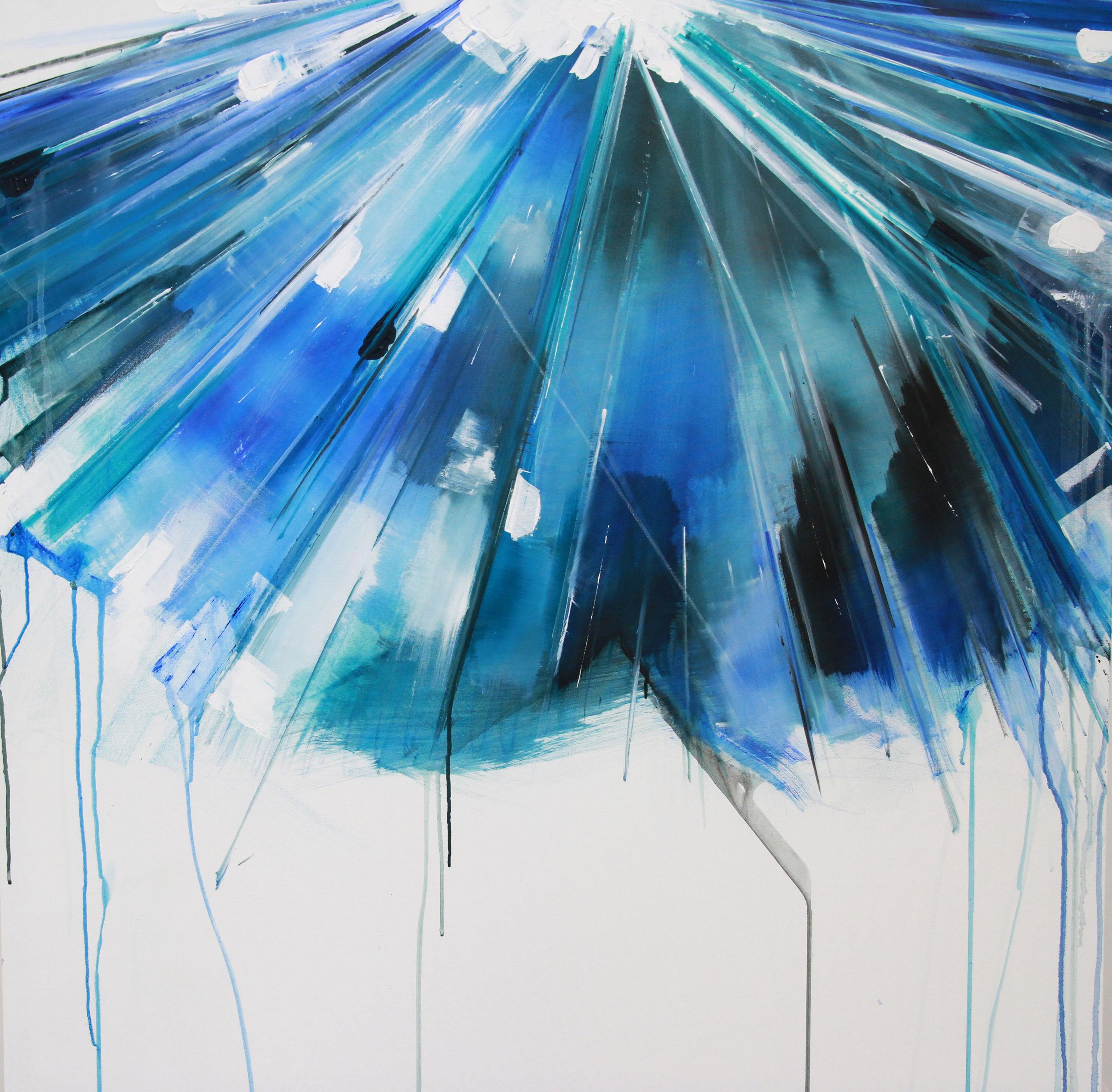 'Infra 12' 100 x 100 cm acrylic on canvas