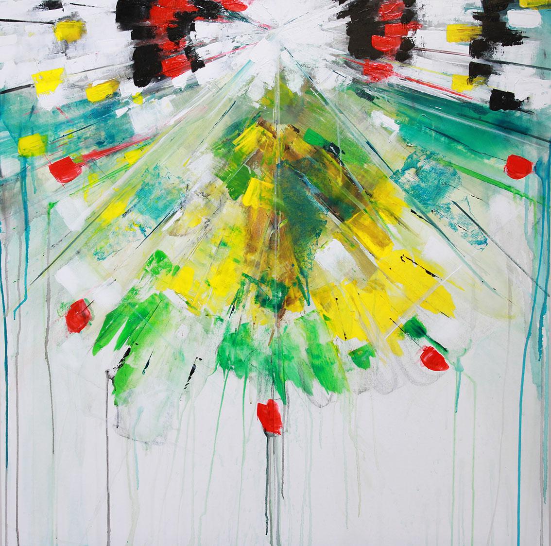 'The unexpected awake' 100 x 100 cm acrylic on canvas