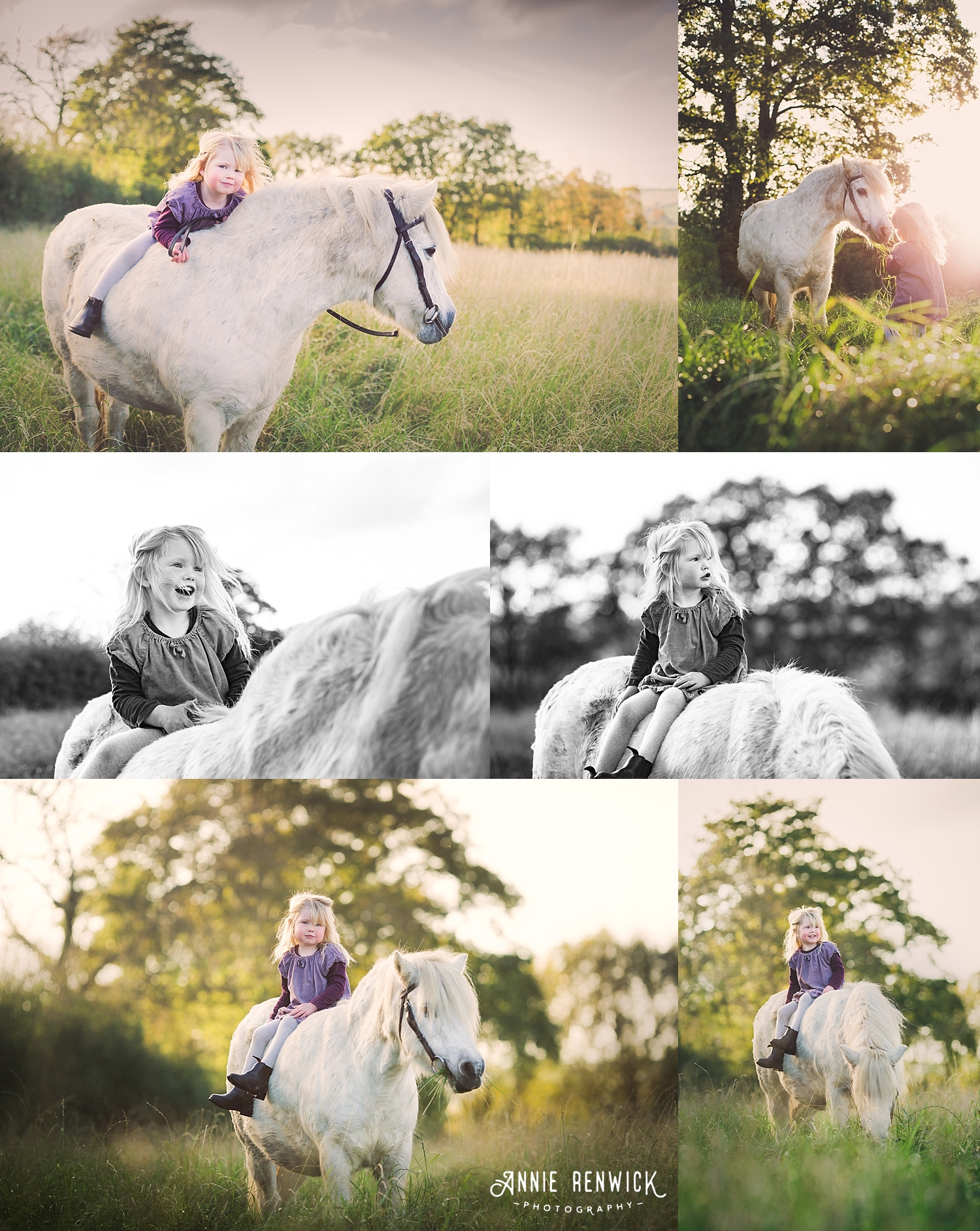 girl and pony photo session golden hour devon
