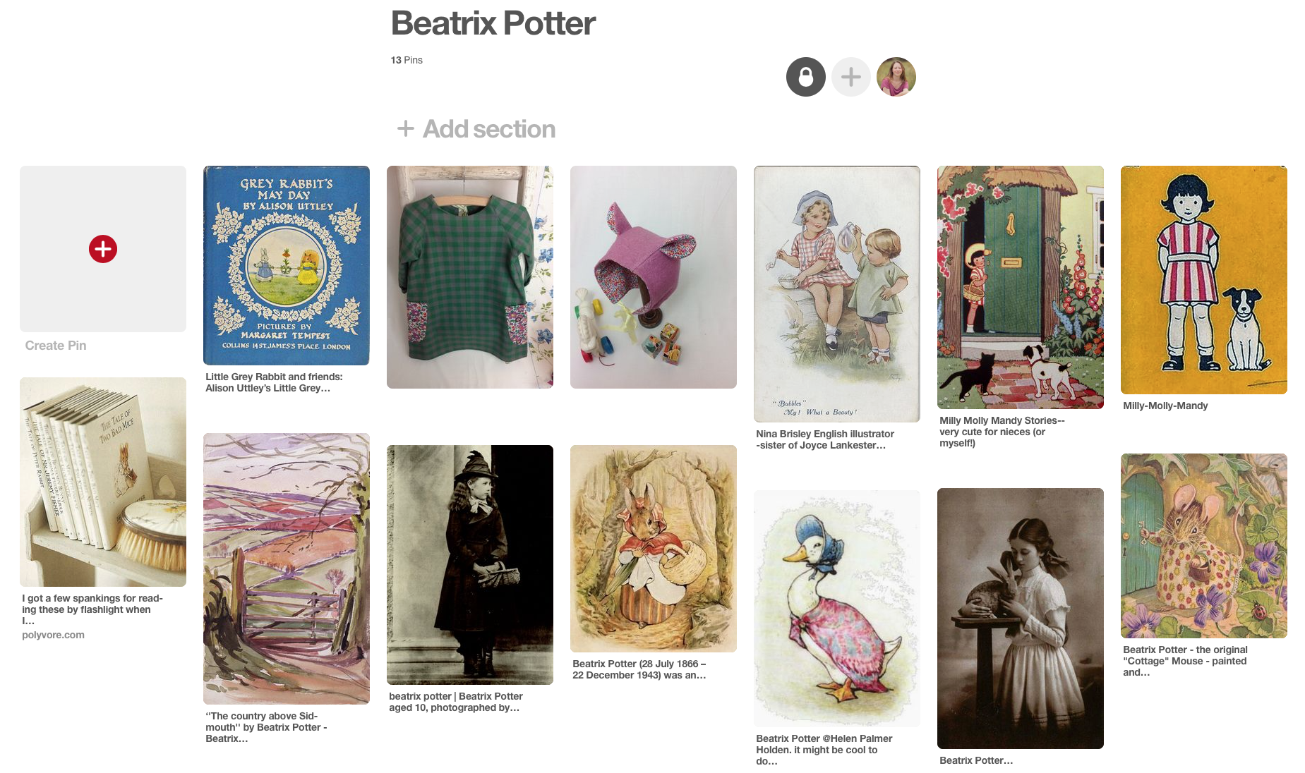 Beatrix Potter Moodboard