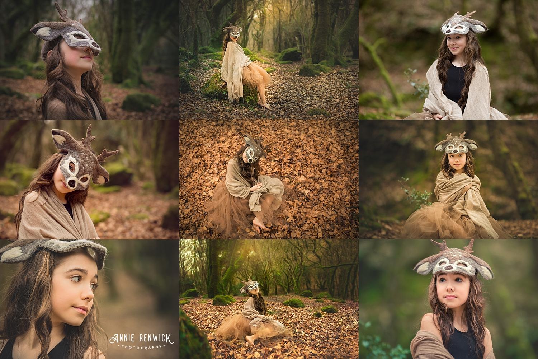 deer woodland photoshoot dartmoor