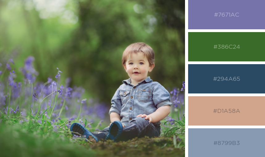bluebell colour scheme clothing styling inspiration photos