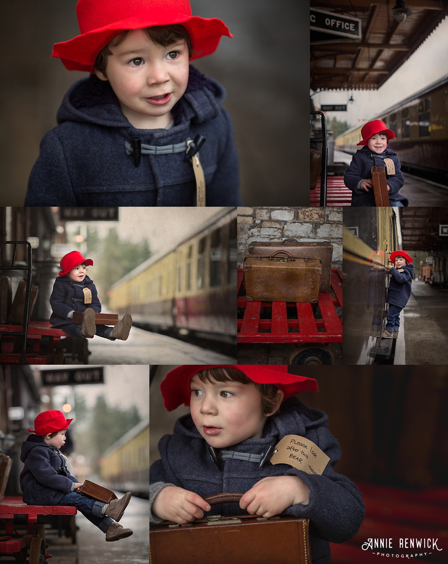 paddington bear child portrait station devon photographer