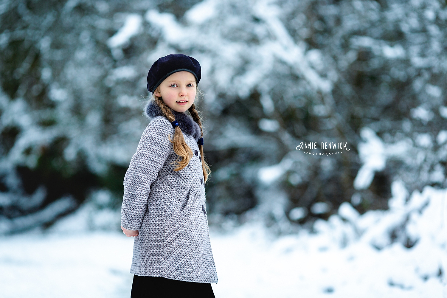 Dartmoor photographer snow portrait