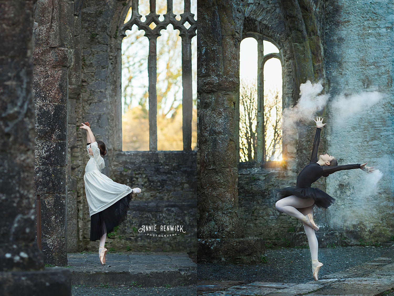 creative ballet shoot Annie Renwick Photography