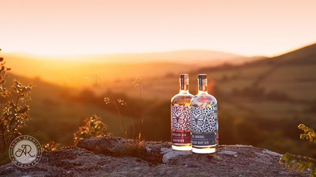 I've been working on this photo for @papillongindartmoor this afternoon. I hope they will like it! The original Papillon Gin sitting alongside the new navy strength gin, The Admiral. I absolutely love the branding from @studiodeville.⁣ ⁣#brandingphotography #productphotography #dartmoorbusiness #smallbusiness #gin #dartmoorgin #papillongin #theadmiralgin #butterflies #butterflyconservation #lovedartmoor #dartmoorsunset #bowermansnose #goldenlight #goldenhour #naturallight #sunsetshoot #businessbranding #businessprofiles #annierenwickphotography