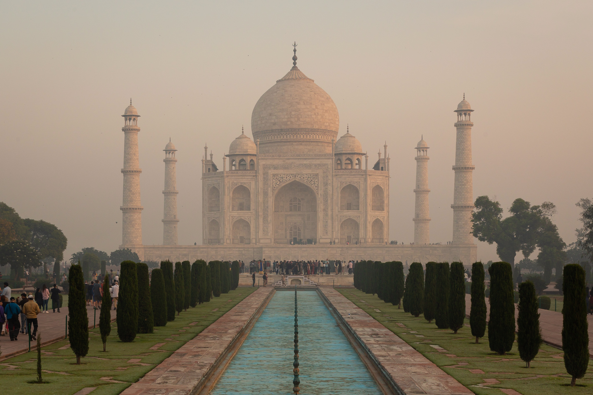 Taj Mahal & dry reflecting pool