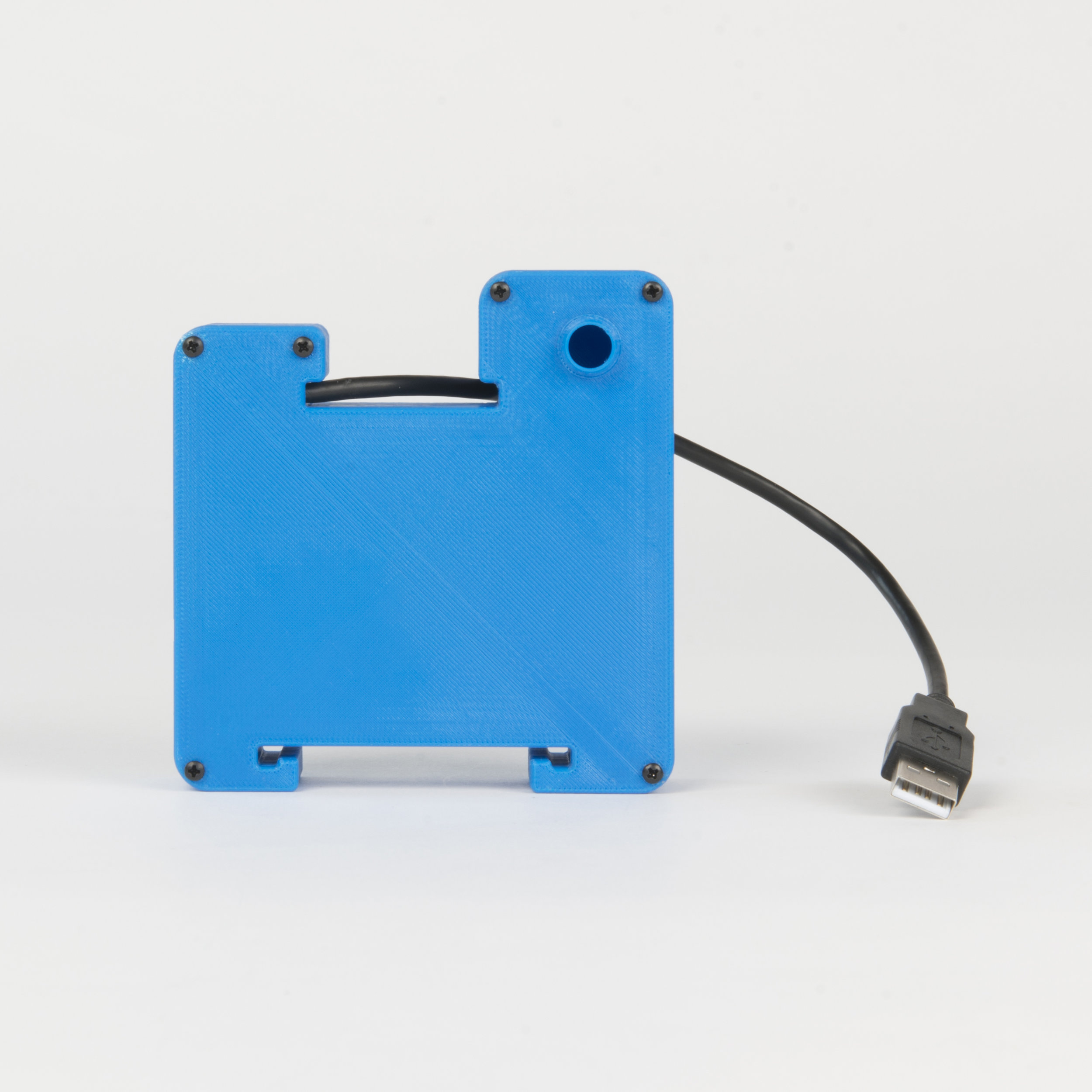 Hooked Case Camera    his housing is made from 3D printed front and rear shells. The integrated hooks are for attaching a USB battery with cable ties or elastic bands in various configurations..  more