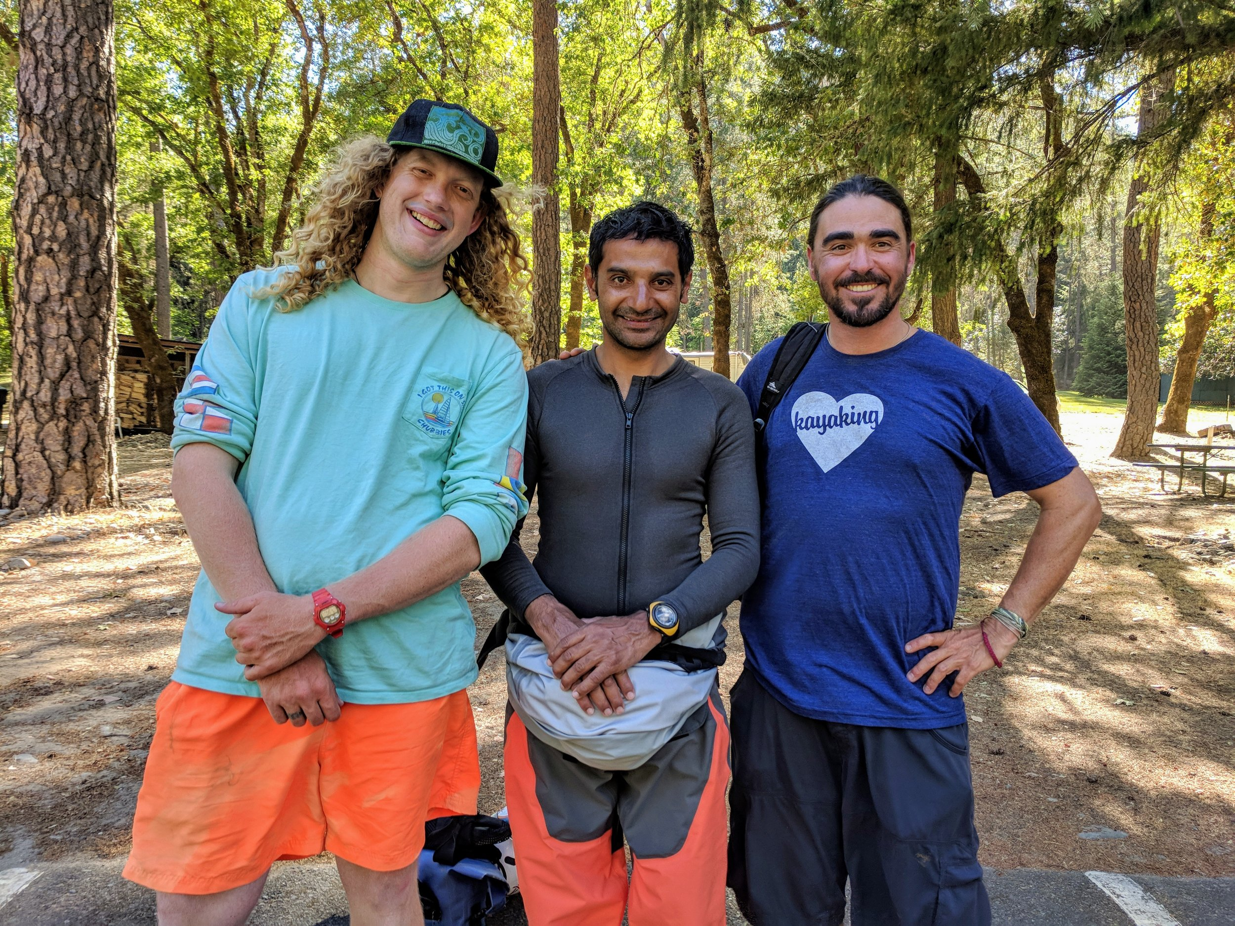 Big smiles with his instructors after successfully completing the course! From left: John, Anvesh, JR.