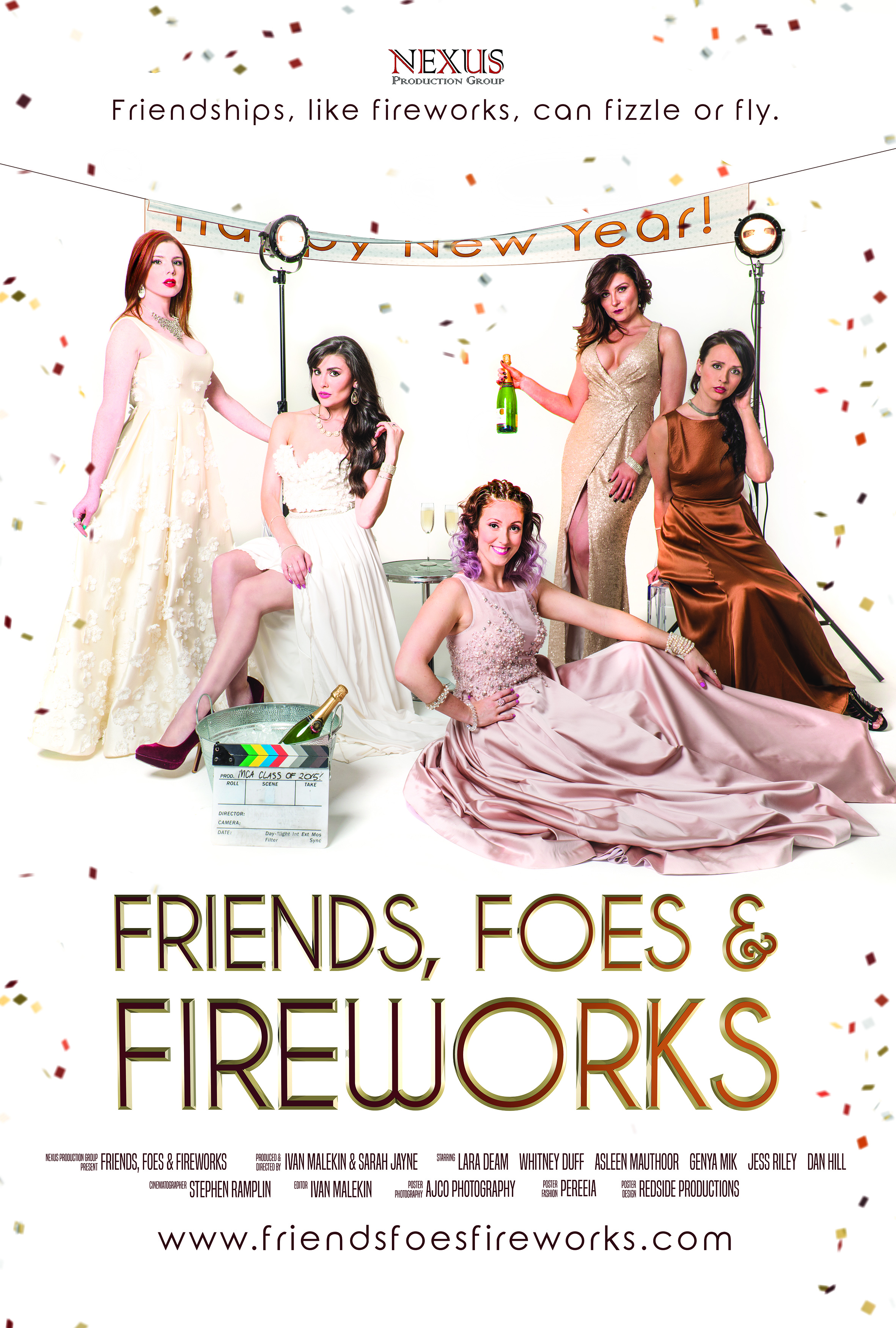 Official Friends, Foes & Fireworks Poster - Photography by AJCOphotography, Poster Edit by Redside Productions and Fashion by Pereeia