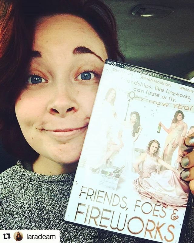 #Repost @laradeam (@get_repost) ・・・ My gorgeous friend @louiejuan just sent me this photo!!!! What a cheeky and supportive friend! My mind literally blew when she sent it to me! I Love you ❤️ I hope you enjoy watching this very unique mumblecore film.  Be like Louie and purchase your DVD though Amazon now via the website link in bio or search Friends, Foes & Fireworks in Amazon.