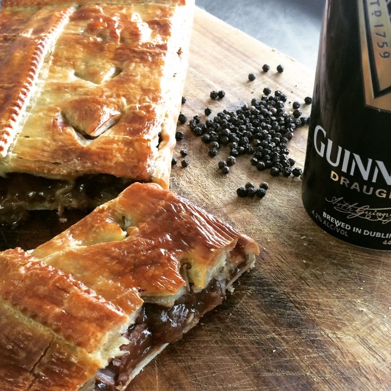 Peppered Beef & Stout Pies     Retail -Large family sized Pies, Small twin pack pies  Cafe/Deli -Individual small pies