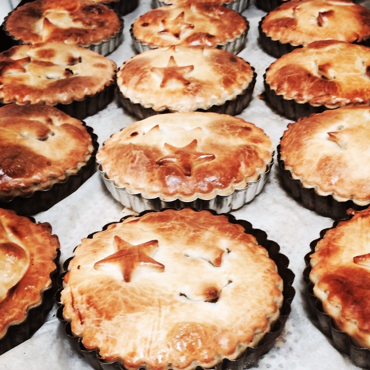 Slow Cooked Beef & Merlot Pies   Retail- Large family sized Pies, Small twin pack pies  Cafe/Deli- Individual small pies