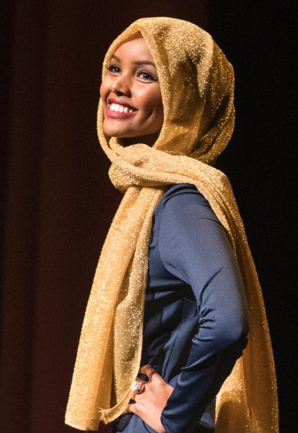 """Halima Aden, participating in a Miss USA pageant last December told CNN News """"There are so many Muslim women that feel like they don't fit society's standard of beauty, I just wanted to tell them it's OK to be different, being different is beautiful, too."""""""