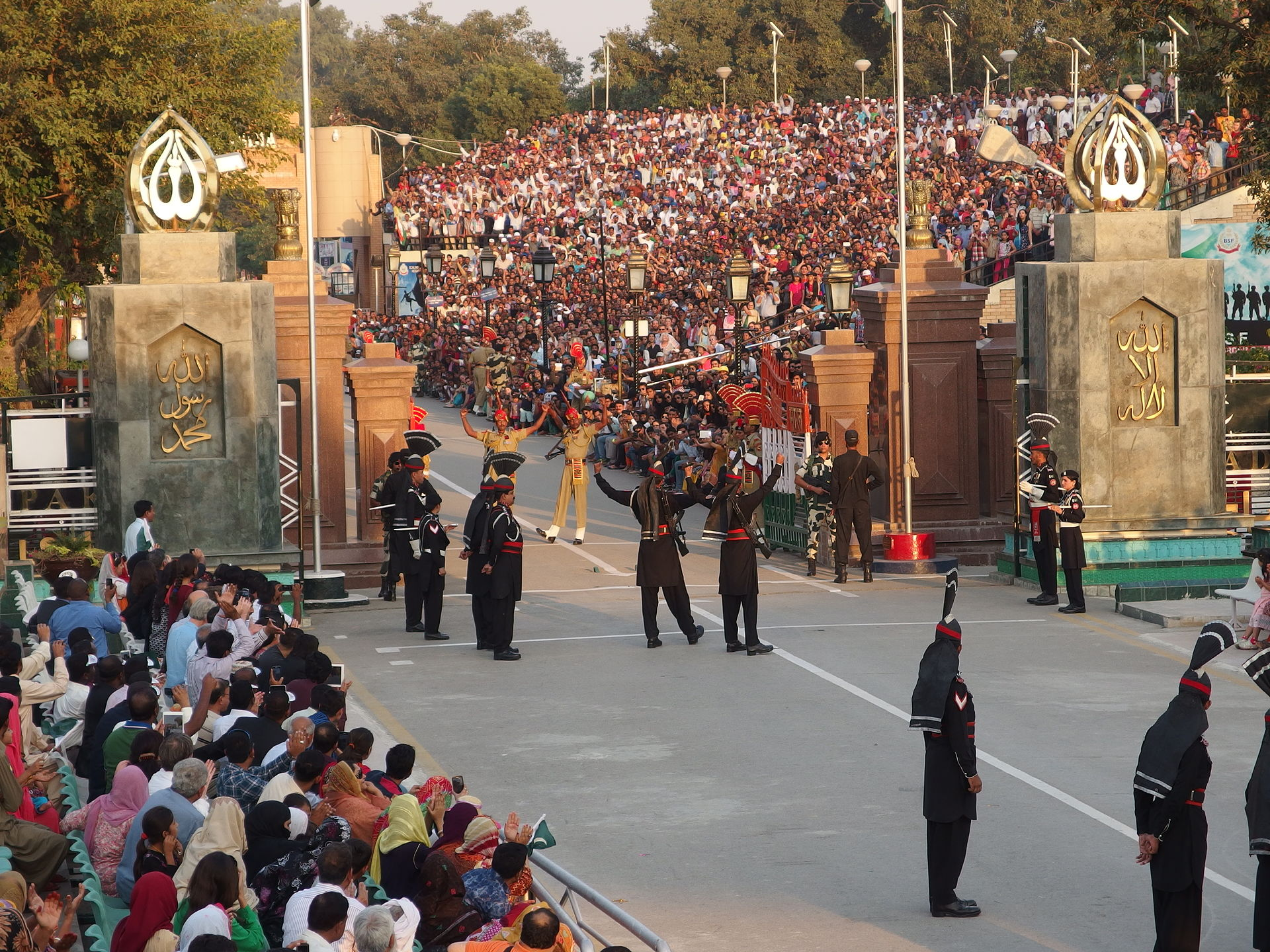 The land crossing at Wagah between India and Pakistan