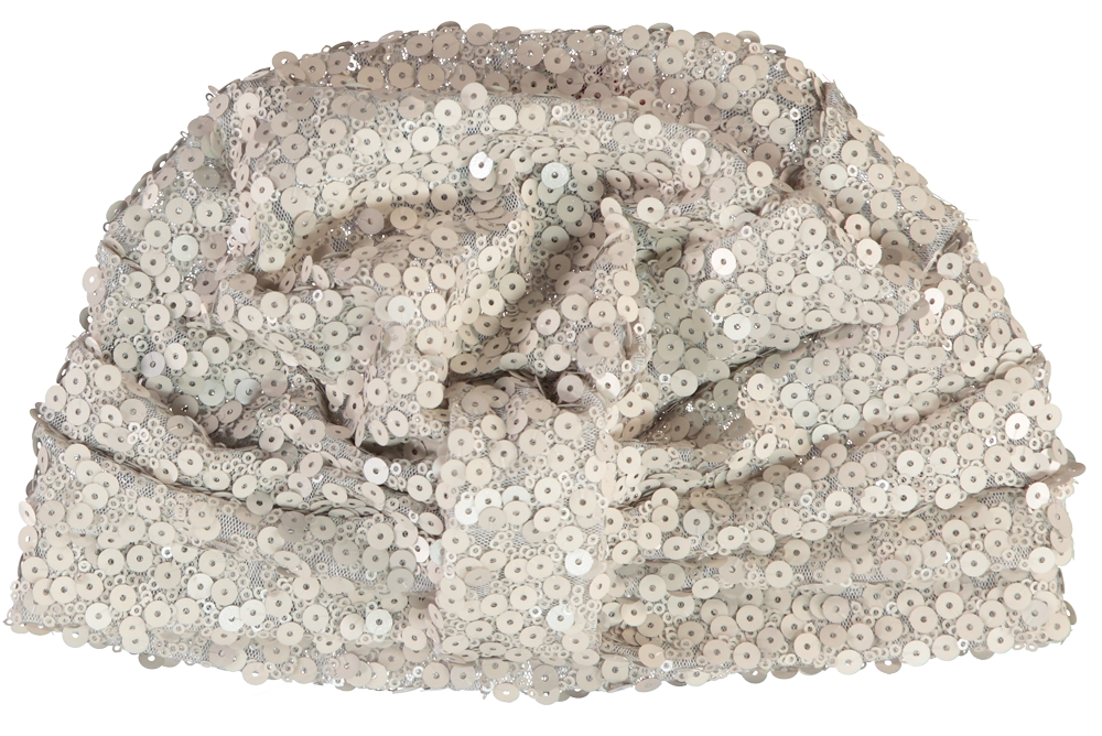 SEQUINNED TURBAN