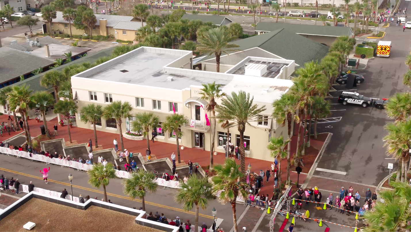 The Courtyard at 200 First St. - The gathering place of Beaches Town Center, complete with a coffee shop, offices, boutique shopping, and live music.View in Directory