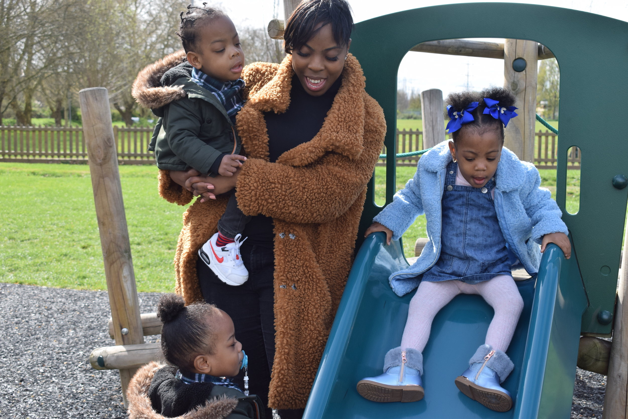 Rochelle Francis and her triplets