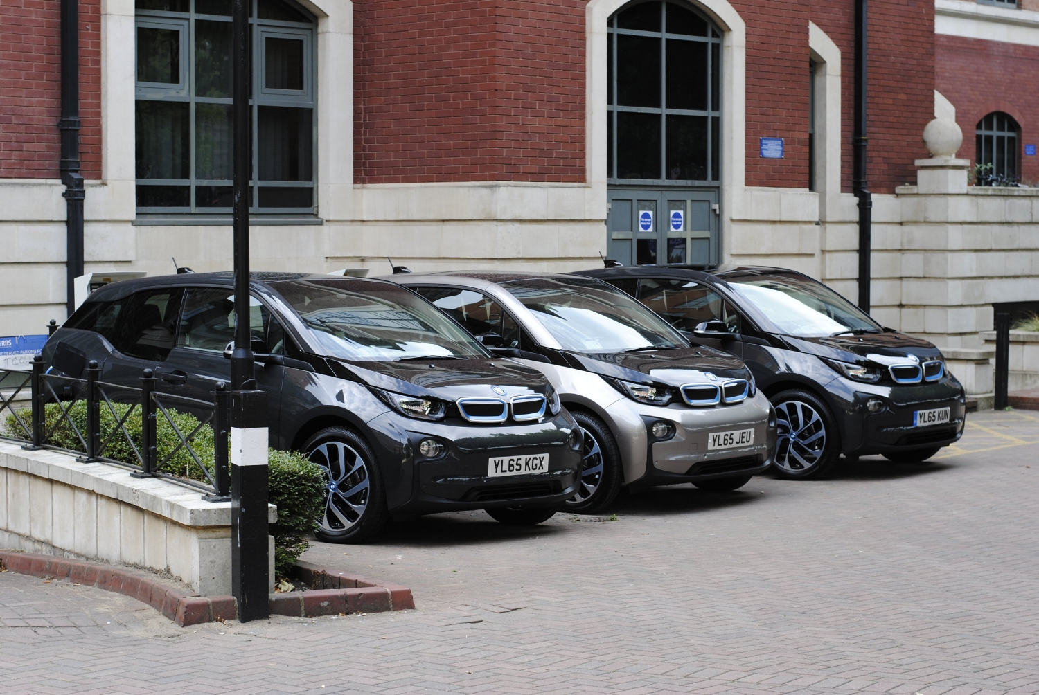 The BMW i3s in the Bristol's RBS office
