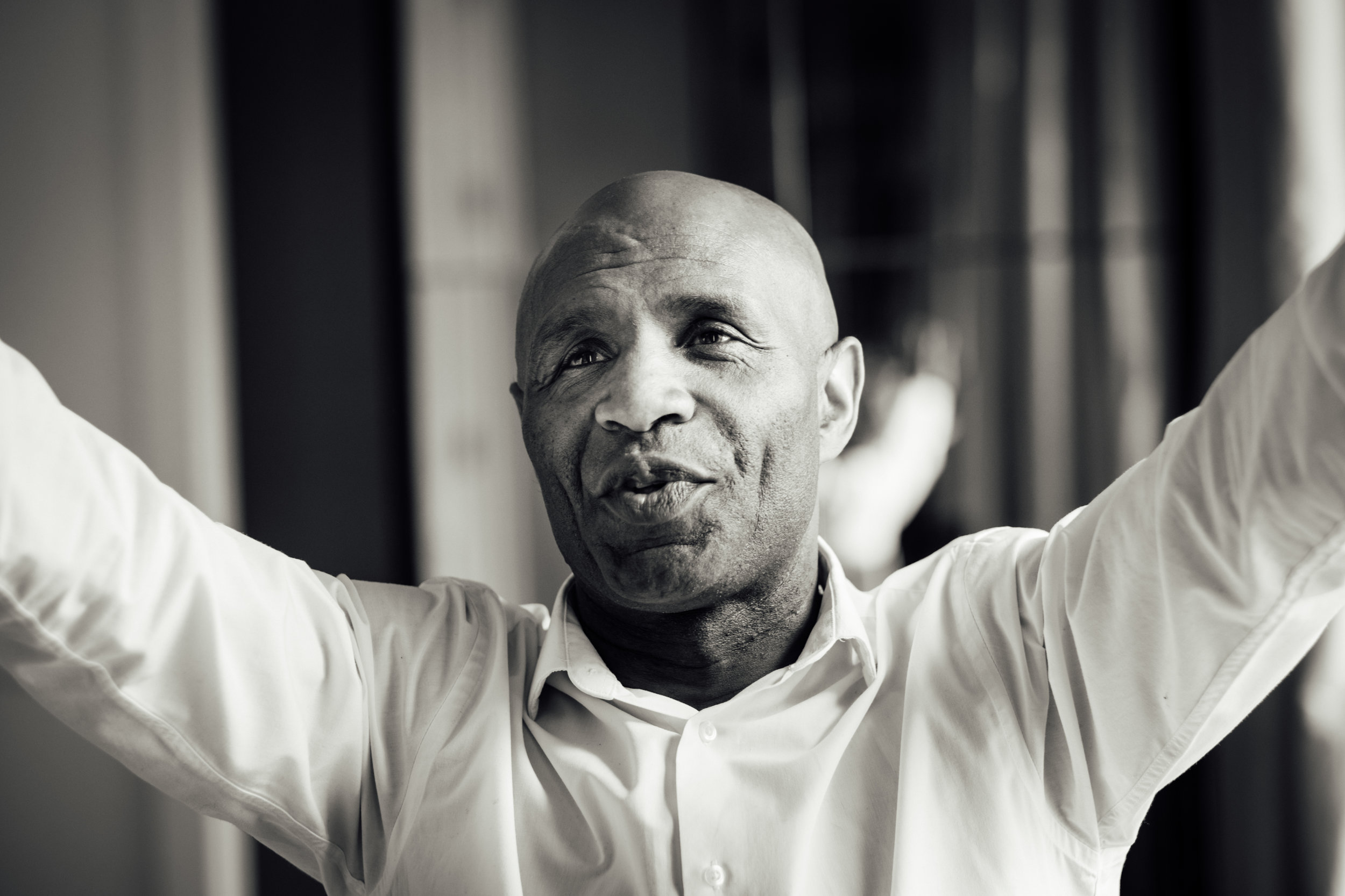Former Watford, AC Milan and England striker, Luther Blissett photographed for an upcoming book