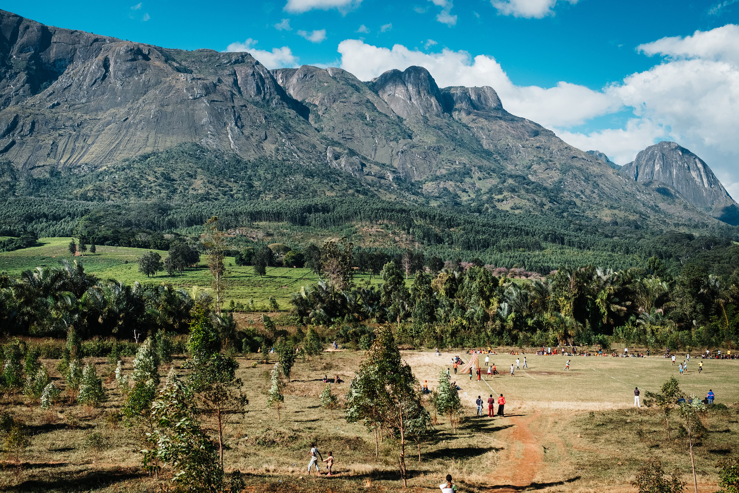 Mulanje mountain provided a stunning backdrop to the FOMO football tournament