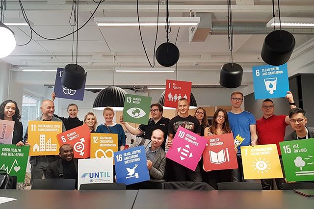 Great morning learning and working on improving SDG impact with @untilabs and @unitednations at @agrid_aalto  #xEduFall19 #StrongerTogether #impactday