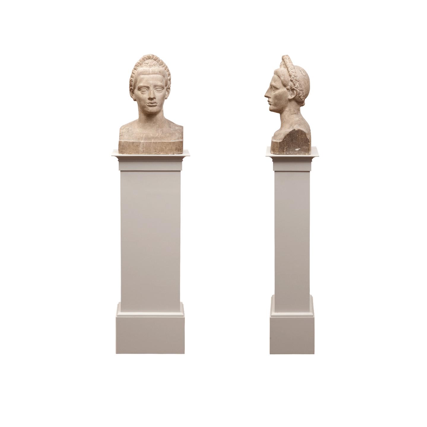 Male Head Sculpture Pedestal    more info
