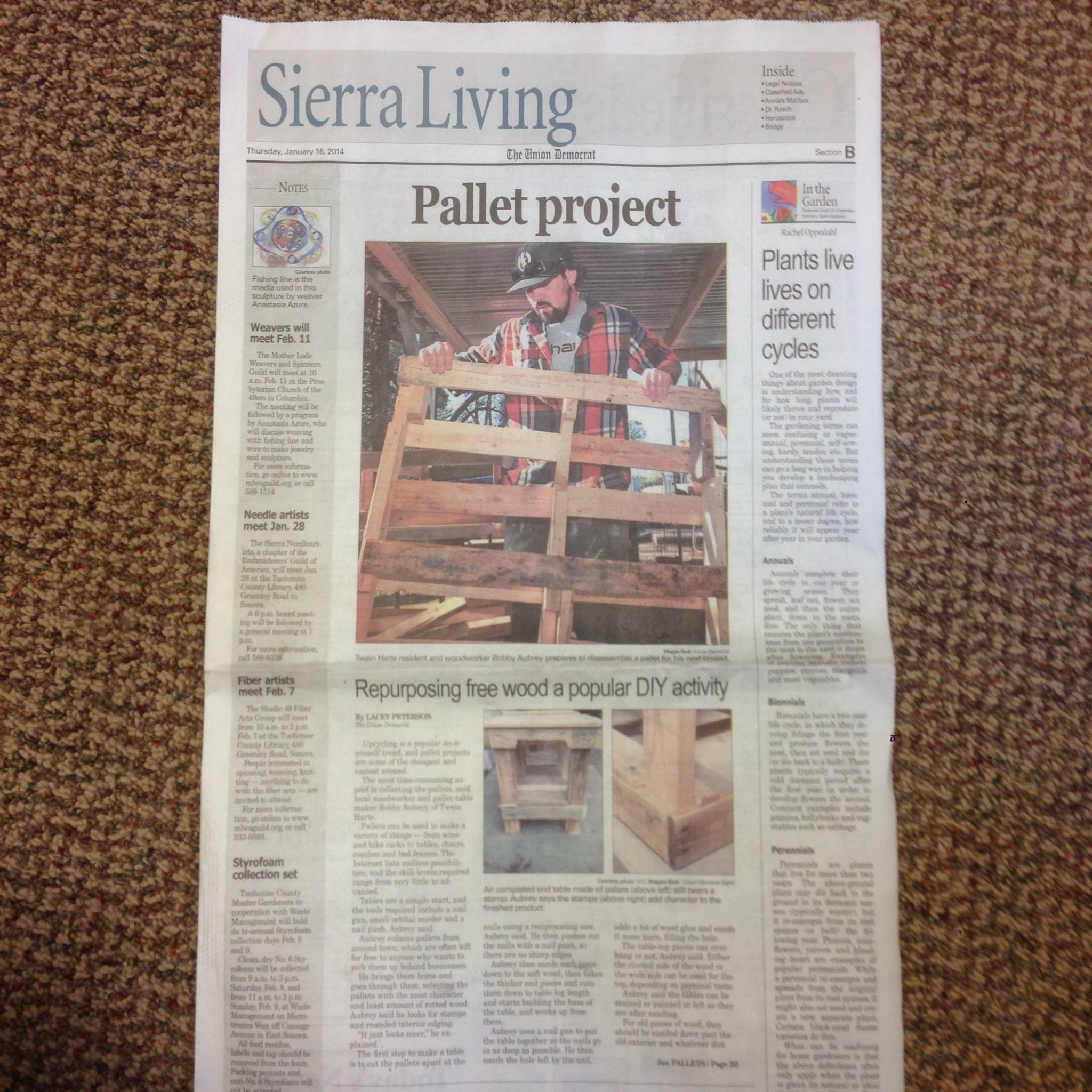 Pallet Project - After living in San Diego for a couple years, I moved home and began doing odd jobs to make money until I figured out what I wanted to do. I came across a couple DIY pallet projects on facebook and started collecting pallets from around town and taking them apart to make furniture.