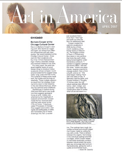 Art in America, April 2007, Victor Cassidy