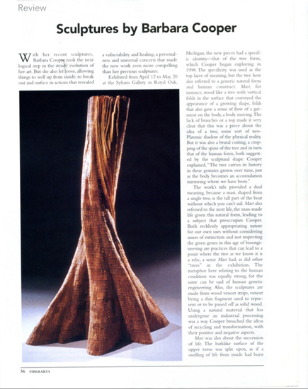 Fiberarts, Jan 2001, Marsha Miro