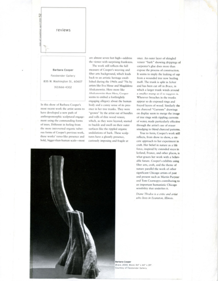 New Art Examiner, April 2001, Diane Thodos