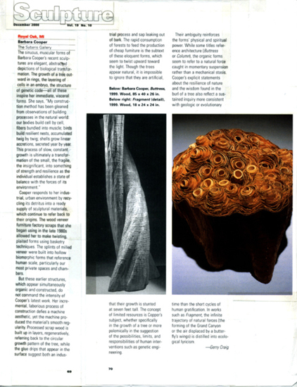 Sculpture Magazine, Dec 2000, Gerry Craig