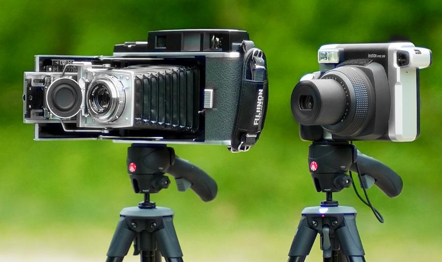 Polaroid 110b Pathfinder & Instax Wide 300