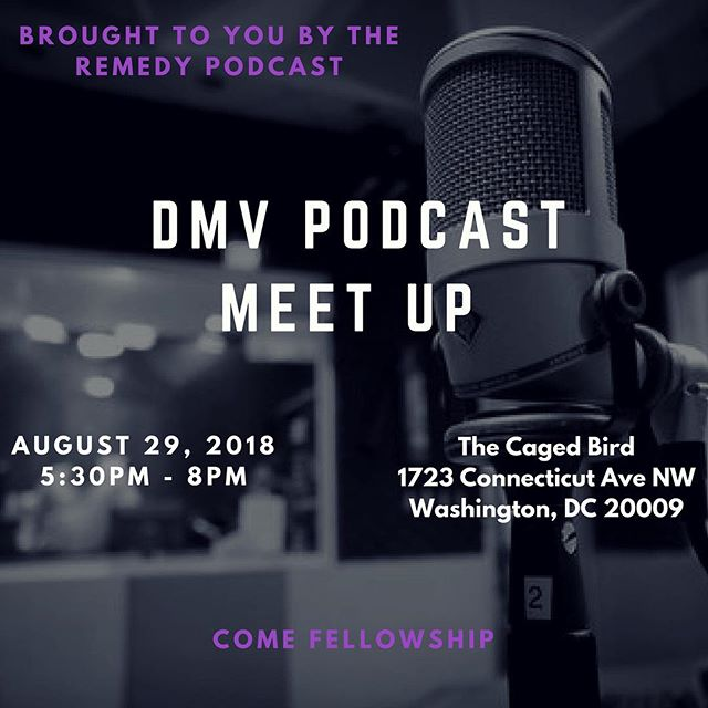 We are back at again with another #DMVPodcastMeetUp !  Join us on 8/29 for good convo, connections, & food! 🔗 in bio to register!