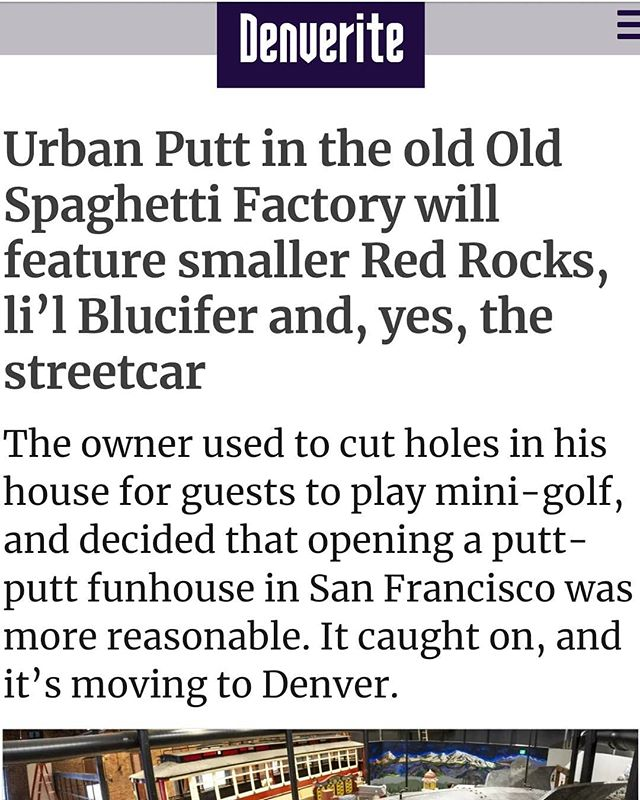 The RSA team is very excited to be bringing the future @urbanputtdenver to life. Great article in @dnvrite! swipe ➡️ for a sneak peak! . . #golf #minigolf #studio #design #archigram #architect #team #archihunter  #localarchitecture #denver #Colorado #landmarks #designersmind #coloradolife #restaurant #eat #urbanddesign #urbanliving